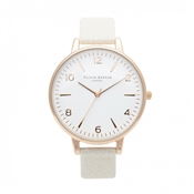 Olivia Burton Large White Face Mink Watch