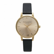 Olivia Burton Midi Dial Black & Gold Watch