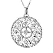 Argento Arabesque Disc Necklace