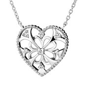 Argento Arabesque Heart Necklace