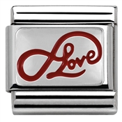 Nomination Red Infinite Love Charm