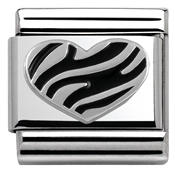 Nomination Tiger Stripe Heart Charm
