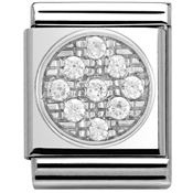 Nomination Big White CZ Circle Charm