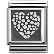 Nomination Big Dotted Heart Charm