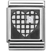 Nomination Big Heart Grid Charm