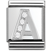 Nomination BIG Crystal Letter A Charm