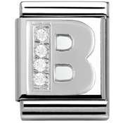 Nomination Big CZ Letter B Charm