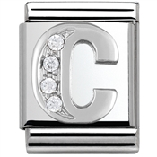 Nomination Big CZ Letter C Charm