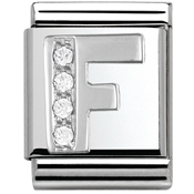 Nomination BIG Crystal Letter F Charm