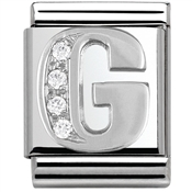 Nomination BIG Crystal Letter G Charm