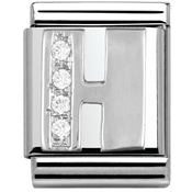 Nomination BIG Crystal Letter H Charm