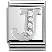 Nomination Big Crystal Letter J Charm