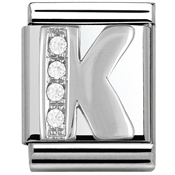 Nomination BIG Crystal Letter K Charm