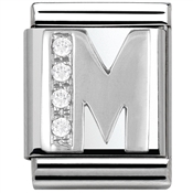 Nomination BIG Crystal Letter M Charm