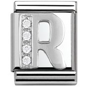Nomination Big CZ Letter R Charm