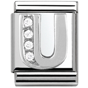 Nomination BIG Crystal Letter U Charm