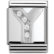 Nomination BIG Crystal Letter Y Charm