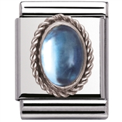 Nomination Big Light Blue Topaz Charm