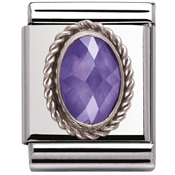 Nomination Big Faceted Purple CZ Charm