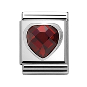Nomination Big Red Crystal Heart Charm