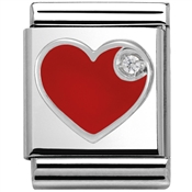 Nomination Big Red Heart Charm