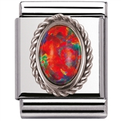 Nomination Big Red Opal Charm