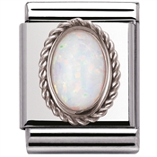 Nomination Big White Opal Charm