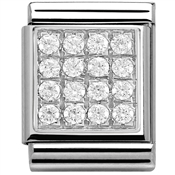 Nomination Big White CZ Pave Charm