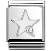Nomination Big White Star Charm