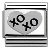 Nomination Black XOXO Heart Charm