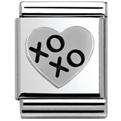 Nomination BIG Oxidized XOXO Heart Charm