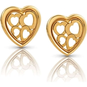 Nomination Verona Gold Heart Earrings