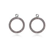 PANDORA Eternity Pink Compose Earrings