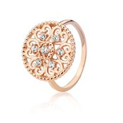 Argento Rose Gold Circle Heart Ring