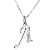 Argento Letter A Necklace