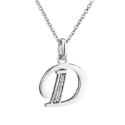 Argento Letter D Necklace