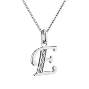 Argento Letter E Necklace