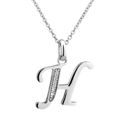 Argento Letter H Necklace