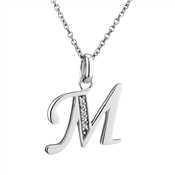 Argento Letter M Necklace