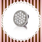 My Bon Bons White Crystal Charm by Nomination