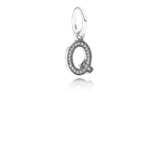 PANDORA Alphabet Q Dangle Charm