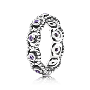 Pandora Purple Romance Ring