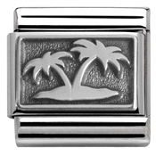 Nomination Island with Palm Trees Charm