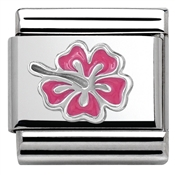 Nomination Pink Hibiscus Charm