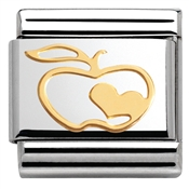 Nomination Apple Heart Charm