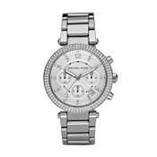 Michael Kors Silver Parker Chronograph Watch