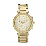 Michael Kors Parker Gold Chronograph Watch