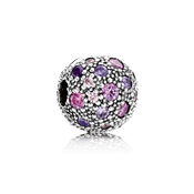 Pandora Fancy Purple Cosmic Stars Clip