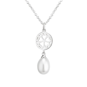 Argento Clover Pearl Necklace