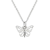 Argento Openwork Butterfly Necklace
